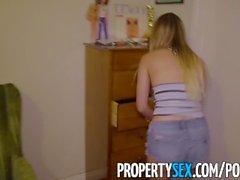 PropertySex - Petite fode inquilino senhorio quando ela não consegue encontrar o dinheiro do aluguel