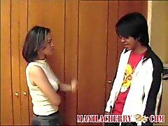 Jóvenes par adolescente Filipino sexual