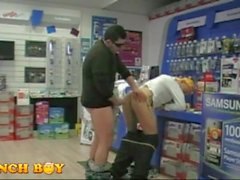 2 Guys Get It on at A Fastenal Store