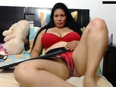 Mature BBW solo en la webcam