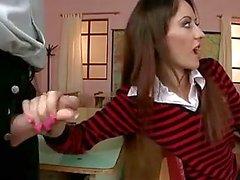 Trevlig schoolgirl DP och DAP