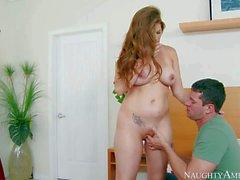 Allison Moore s huge Tits turn him on