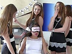 Sorority Sisters Torture and Fuck New Pledge