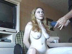 Slutty bitch gets her ass slapped red whilst being bounded