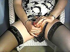 Bir hayran John ile isteği . Kahvaltının lezzetli çorabı masturbasyon