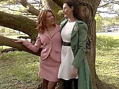 British MILF sixtynining stockinged lapsi