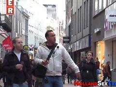 Голландский проститутка получает кончил