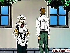 Di Hottie ragazza Anime in sella a una cazzo duro