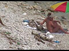 Cuckold tik på stranden