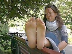 Mukavia ranskalaisen Dirty Feet Solesin Jalka fetissi
