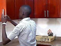 Etiyopyali barebacker delinmiş alma