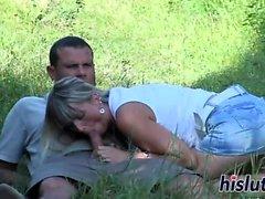 Сексуальная блондинка ее мокрая пизда накачки