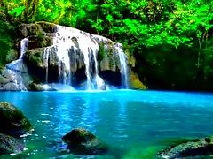 Cachoeira em uma selva, tão calmo UPGRADED 2000x1075 HD.avi