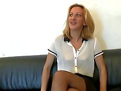 Good looking skinny milf tries anal