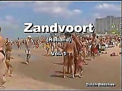 OmZandvoort holländska Strand Topless Nudist Titties den 12