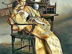 Chinese Vrouwen en de Spiegel - Schilderijen van Lu Jianjun