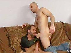 İki Sexy Men Sucking Sikişme ve
