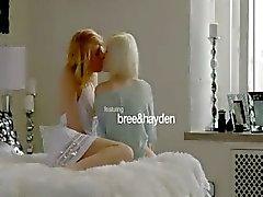 Zweedse blonde lesbiennes maken ware liefde