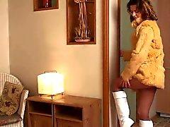 L'étudiante de Brunette Pantyhose La masturbation