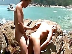 Latino Outdoor Bareback orgie