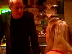 Horny guy forces two girls for some hot bdsm scenes in a bar