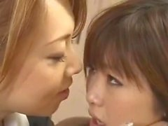 Lesbian Japanese Teacher seduces her young student