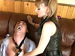 Lazy Guy Punished By Two Hot Femdoms