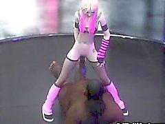 3D Skinny Emo Teen Destruido por los extranjeros!