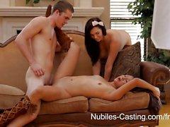 Nubiles Литье - подросток милая пробует хардкор порно