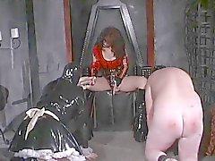 Dominatrix bitches suck for her