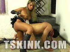 TS mistress Vanessa Rafaella is in dominating action today,