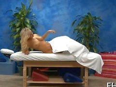 the sweet blonde babe gets her ass massaged