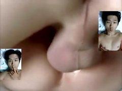 koreanska pojke slampa evergreeny blir creampied av gammal vit