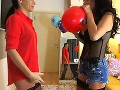 Festa Lingerie lésbica de três meninas
