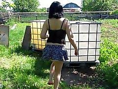 Sto pissing la fontana leva in piedi , corso d'acqua )