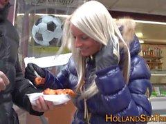 Голландской Гукер вылизывает lezzie