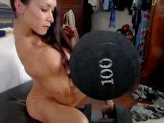 Denise på webbkamera 3-03-2015