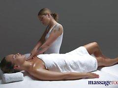 Massage Rooms Gorgeous tanned flexible lesbians