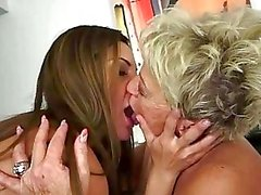 Teens enjoying sex with grannies