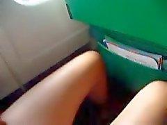 masturbarse de avión Alitalia El