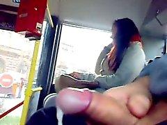 en la masturbación autobuses