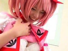 adolescentes japoneses licks Kotone Aisaki e suga um rabo apertado