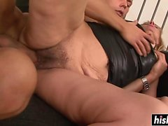 Paris Angelo gets cream on her pussy