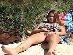 La mia personali e dell'orgasmo in spiaggia