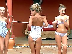 Naked gymnasts Eleanor Elisse and Stephanie