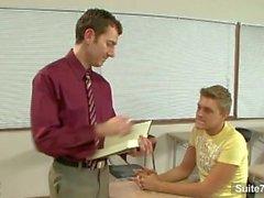 Sexigt homofile skruva rövar i klassen