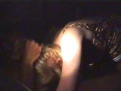 Mature wife fucks black bull in the back of a van