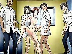 Teen hentai brud blir sgangbanged