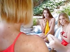 Mom's Swap Teen Lesbian Daughters and Fuck