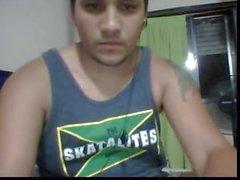 Straight guys feet on webcam #108